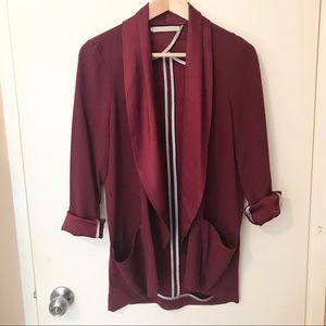 Monk & lou burgundy blazer from Plenty